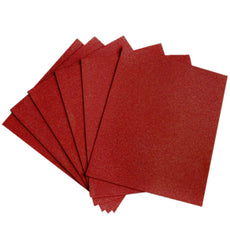 "10 PCS Wholesale Glittered Metallic Foam Craft Art Sheets Fofuchas - Red - 9.5""x12"""