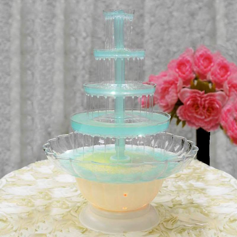 Wedding cake large fountain-5 tier