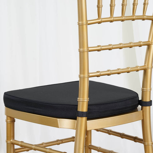 "Tables and Seating Chiavari Chair Cushion - Black 1.75"" Thick"