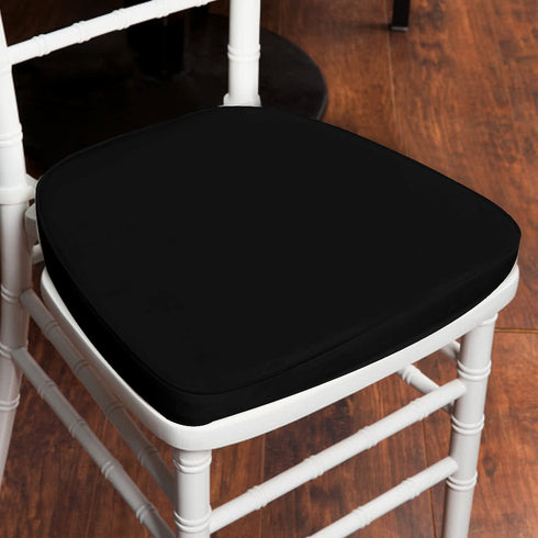 "2"" Thick Wholesale Black Chiavari Cushion for Beechwood Chairs Party Event"