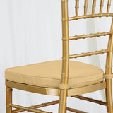 "Tables and Seating Chiavari Chair Cushion - Gold 1.75"" Thick"