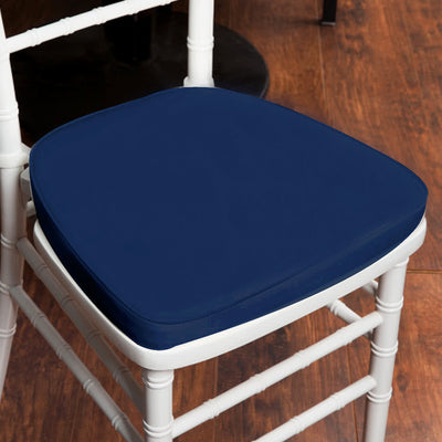 "2"" Thick Chiavari Cushion for Beechwood Chairs - Navy Blue"