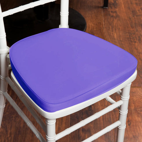 "2"" Thick Wholesale Purple Chiavari Cushion for Beechwood Chairs Party Event"