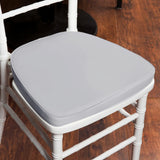 "2"" Thick Chiavari Cushion for Beechwood Chairs - Silver"