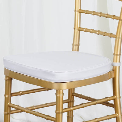 "Tables and Seating Chiavari Chair Cushion - Silver 1.75"" Thick"