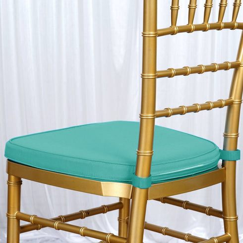 "2"" Thick Turquoise Chiavari Cushion for Beechwood Chairs"