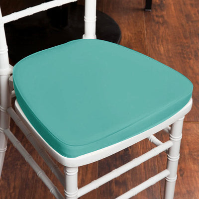 "2"" Thick Chiavari Cushion for Beechwood Chairs - Turquoise"