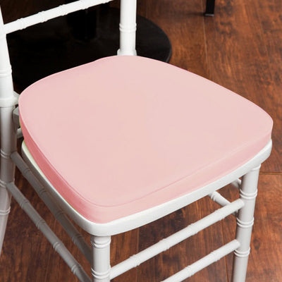 "2"" Thick Chiavari Cushion for Beechwood Chairs - Rose Gold 