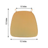 2inches Thick Gold Chair Cushion Pad - Padded Seat Cushion with Fabric Straps and Removable Cover
