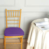 2inches Thick Purple Chair Cushion Pad - Padded Seat Cushion with Fabric Straps and Removable Cover