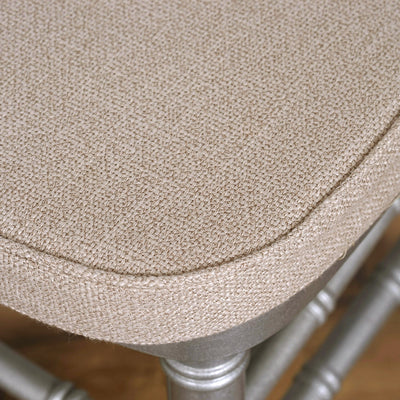 "2"" Thick Burlap Cushion for Beechwood Chairs - Natural"