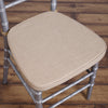 2inch Thick Burlap Cushion for Beechwood Chairs - Natural