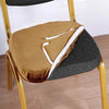 Gold Velvet Dining Chair Seat Cover, Stretchable Chair Cushion Cover with Tie