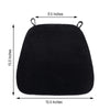 2 inches Thick Black Chair Cushion Pad - Chiavari Chair Cushion with Velcro Strap and Removable Velvet Cover