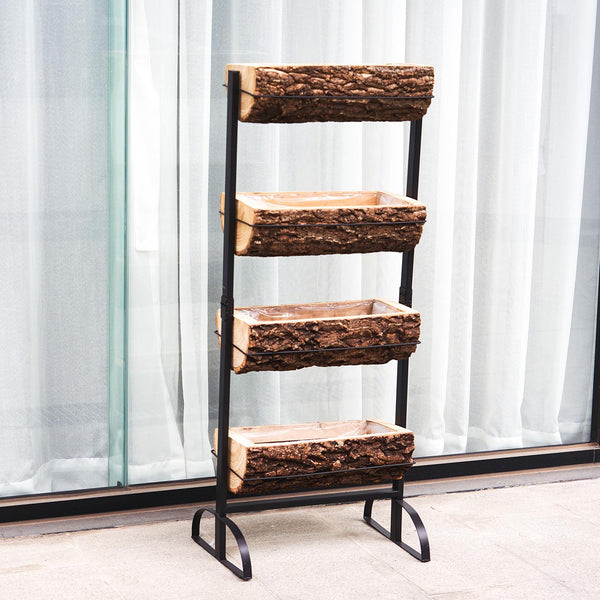 4FT Vertical Raised Garden Bed, 4 Tiered Planter Stand For Patio Balcony Garden