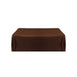 "72x120"" Mocha Polyester Rectangular Tablecloth"