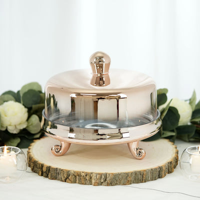 "9"" Chrome Gold Cake Dome 