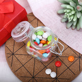 Wholesale Clear Square Glass Jars For Candy Beverage Favor With Flip Lid - 12 PCS