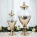 "Pack of 2 | Chrome Gold Ombre Apothecary Glass Candy Jars With Baroque Top - 24"" & 18"""