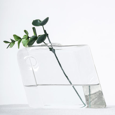 3 Pack - Rhombus Glass Wall Vase - Indoor Wall Mounted Planters - Hanging Terrariums