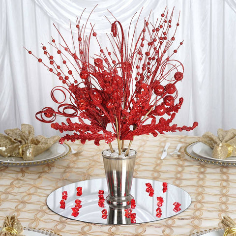 4 Glitter Frenzy Bush - Red
