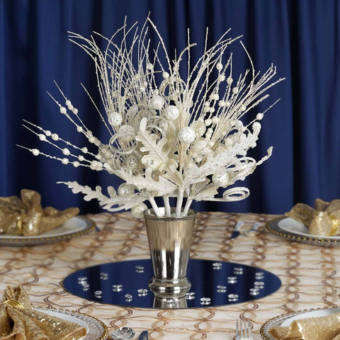 4 Glitter Frenzy Bush - White