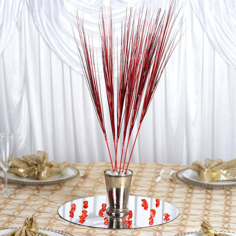 6 x Mohawk Glitter Stems - Red