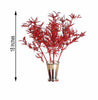 12 Pack Red Showcase Glitter Stems