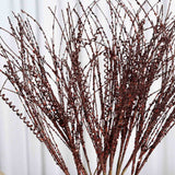 12 x Wavy Glittered Stems - Chocolate