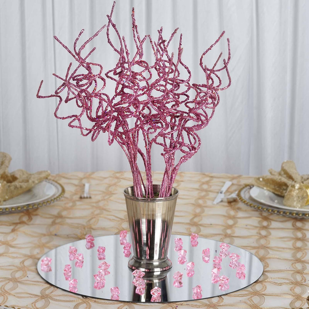 12 x Trio of Glittering Twisters - Pink