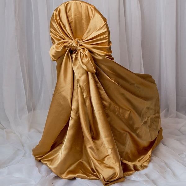 Gold Universal Satin Chair Covers Efavormart
