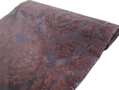 Regal Taffeta Velvet Upholstery Flocking Fabric Bolt - Chocolate - 54 x 10Yards