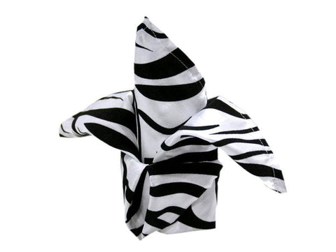 "20x20"" Zebra Safari Napkins 5pcs - Black / White"