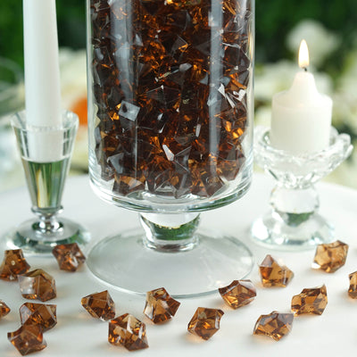 300 Pack Chocolate Large Acrylic Ice Bead Vase Fillers Table Decoration