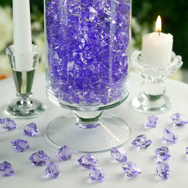 300 Pack Lavender Large Acrylic Ice Bead Vase Fillers
