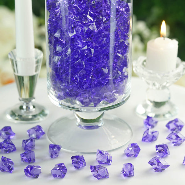 300 Pack Light Purple Large Acrylic Ice Bead Vase Fillers Table Decoration