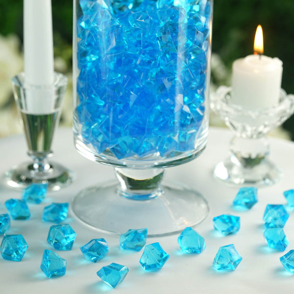 300 Pack Turquoise Large Acrylic Ice Bead Vase Fillers Table Decoration
