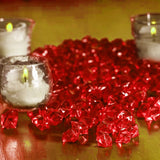 Mini Acrylic Ice Table Vase Decoration - Red - 400/pk