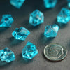 400 Pack Turquoise Mini Acrylic Ice Bead Vase Fillers Table Decoration