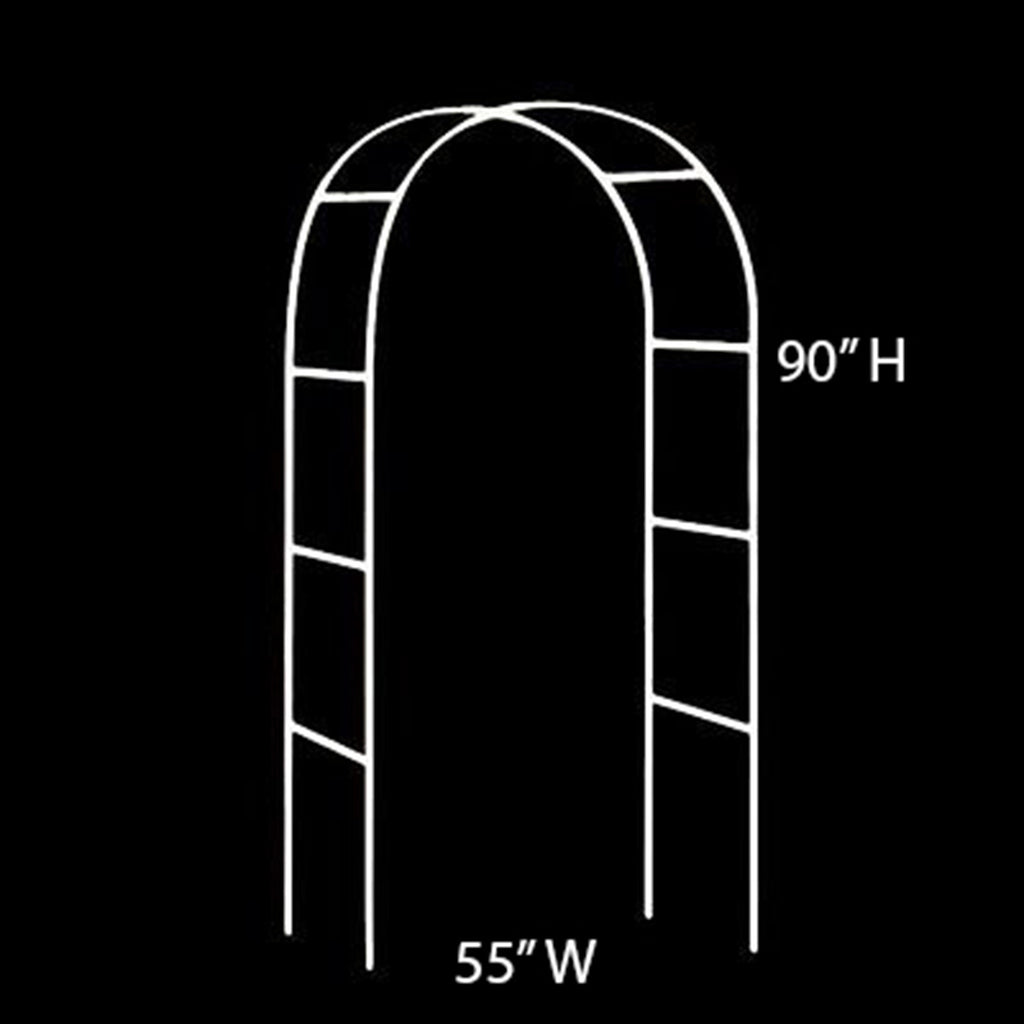 "Decorative Metal Wedding Arch - White - 55""Wx90""H"