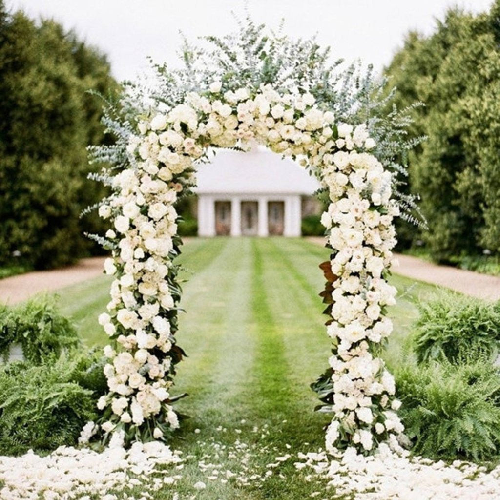 Decorative Metal Arch - White - 55\