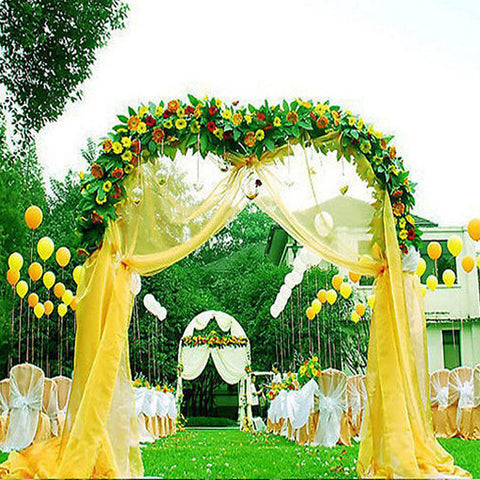 Decorative metal arch white 55wx90h efavormart baby shower ideas calla lily wedding favors efavormart decorative metal wedding arch junglespirit Image collections