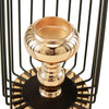 "21"" Tall Gold/Black Metal Hanging Cage Votive Candle Holder"