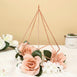 "Pack of 2 - 9"" Rose Gold Metal Pentagon Geometric Tealight Candle Holders - Geometric Flower Stand Centerpieces"