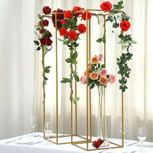 Flower Stand, Geometric Centerpiece Vases, Metal Plant Stand