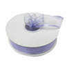 "25 Yards 7/8"" Lavender Organza Ribbon with Satin Edge"