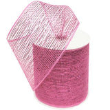 "What a MESH! 4"" x 25yards Shiny Ribbons Pink"