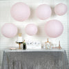 Set of 6 | Blush Assorted Chinese Lanterns | Hanging Paper Lanterns With Metal Frame - 16"