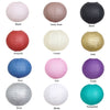 "Set of 6 - Hanging Cream Paper Lanterns Round Assorted Size - 6"", 8"", 10"", 14"""