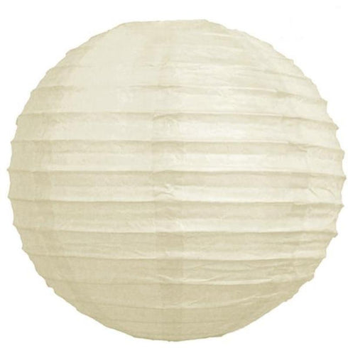 "12"" Paper Chinese Lantern Hanging Decor Set - Cream - 12pcs"